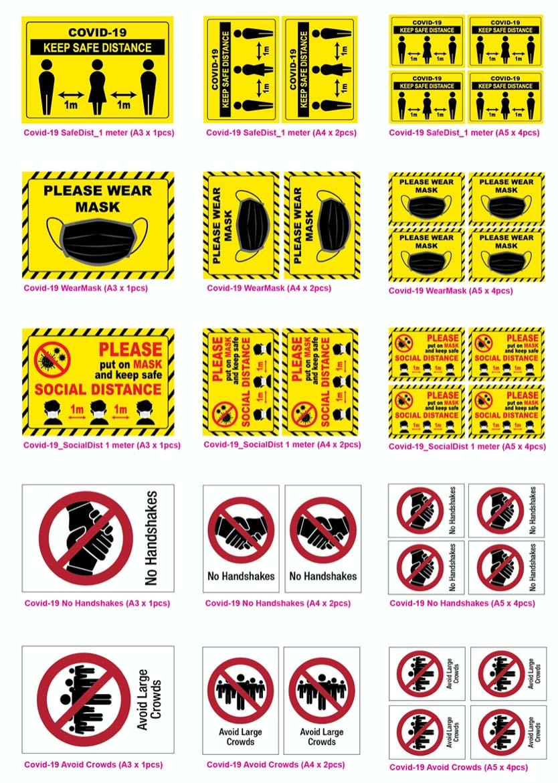 Covid-19 Adhesive Label 2